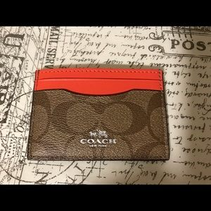 💜 Coach Card Case